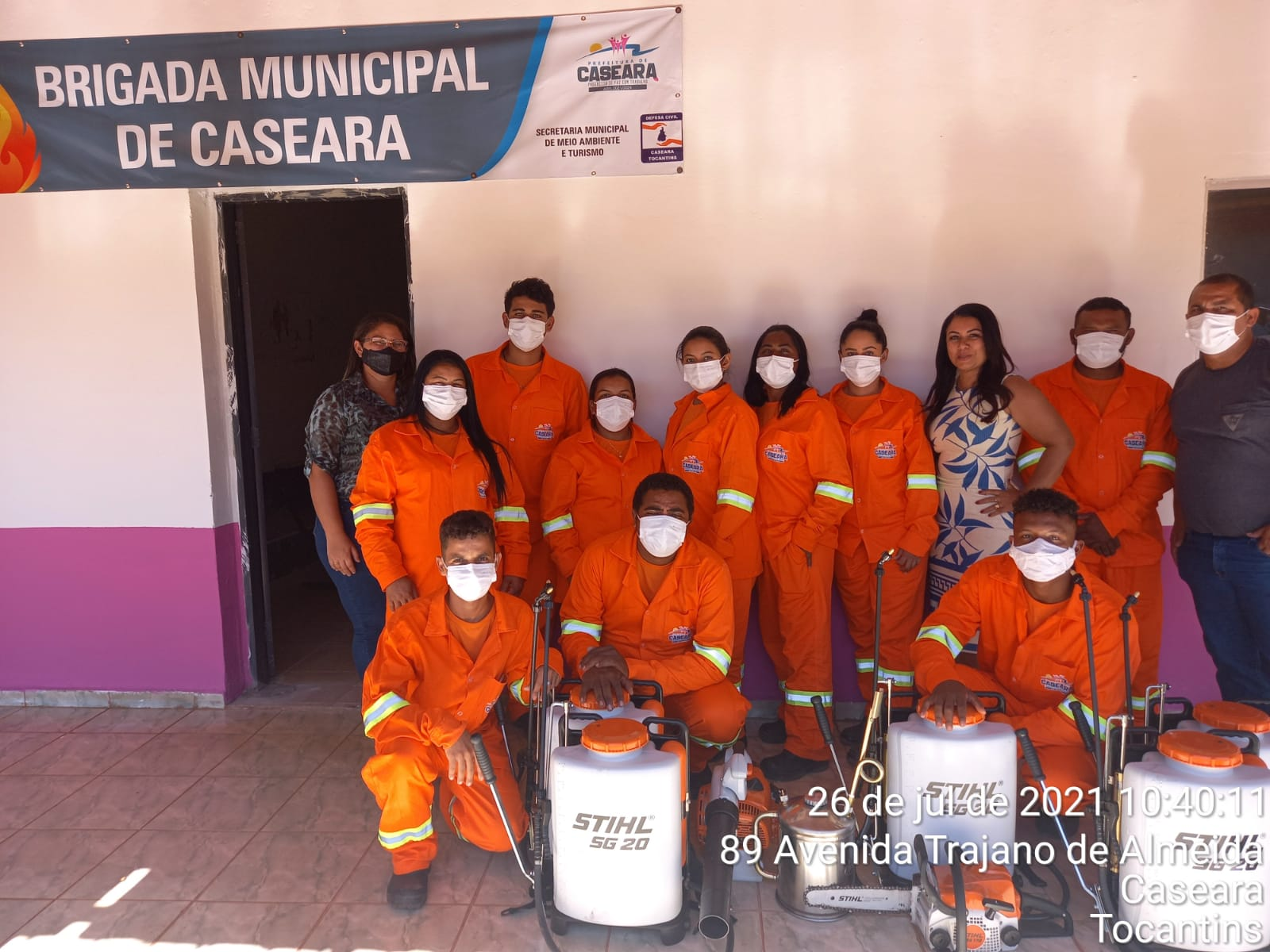 Com apoio da Secretaria Municipal de Meio Ambiente, Brigada Ambiental de Caseara entra em atividade