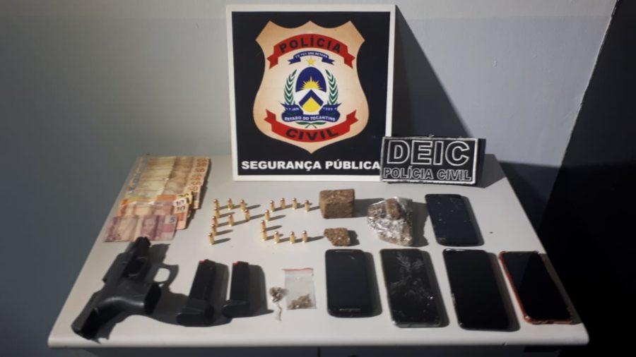 Polícia Civil deflagra 2ª Fase da Operação Desande e apreende drogas, munições e armas de fogo em Araguaína