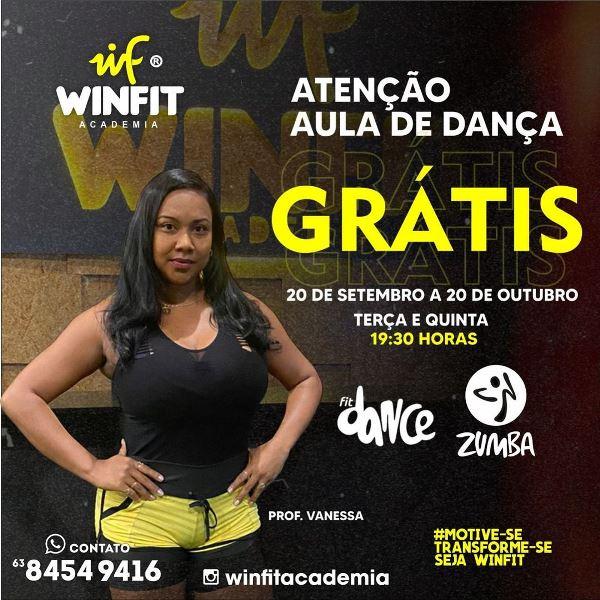 Academia WinFit de Paraíso anuncia aulas de dança grátis e plano promocional