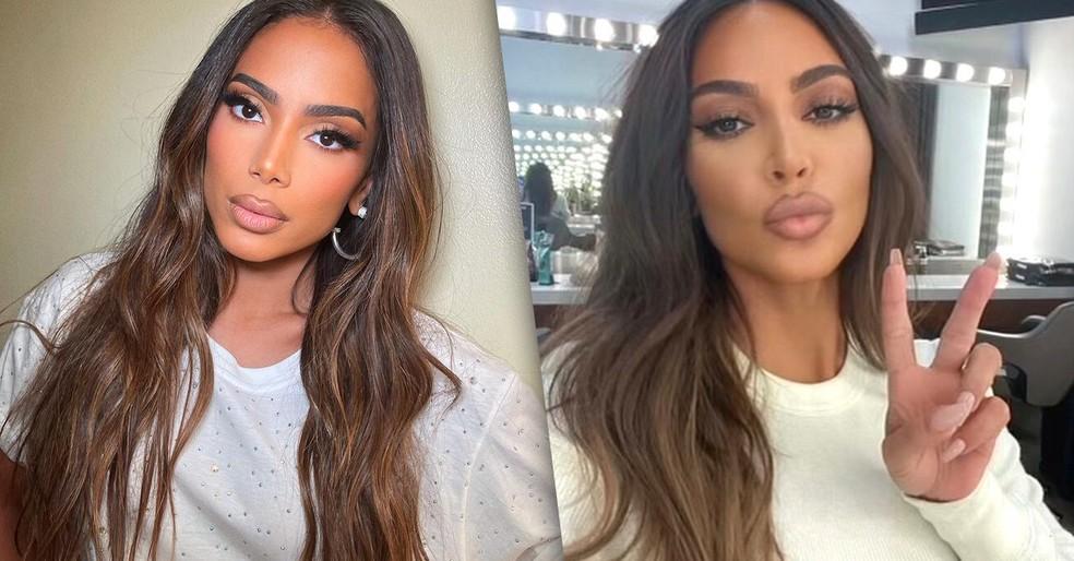 Após maquiagem Anitta é comparada a Kim Kardashian nas redes sociais