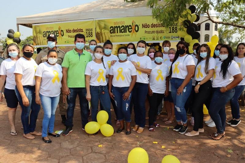 Blitz educativa em Marianópolis chama atenção para prevenção ao suicídio