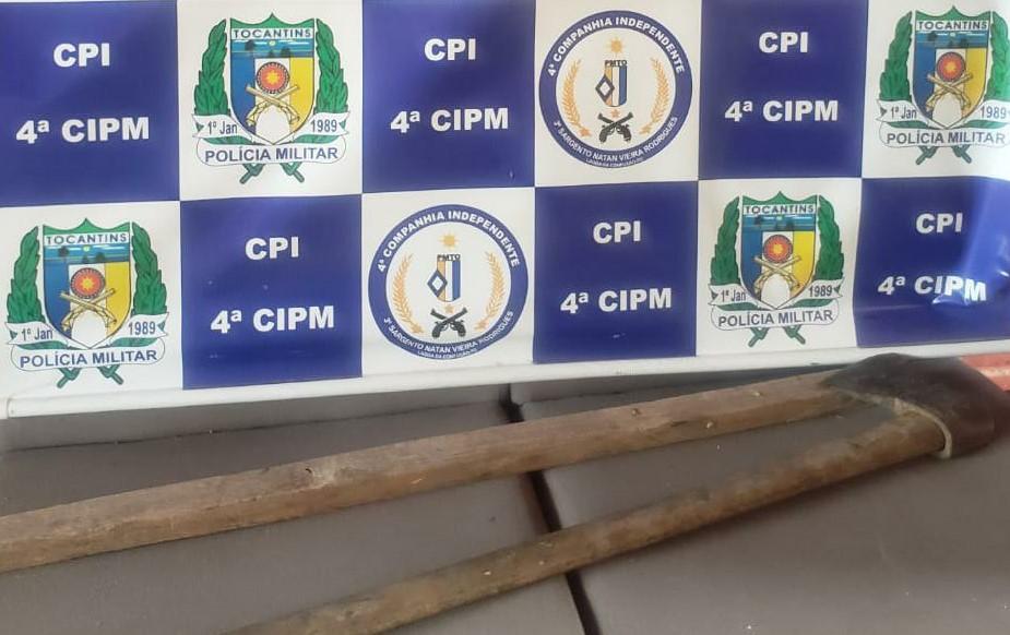 Polícia Militar prende em flagrante suspeito de bárbaro homicídio na zona rural de Cristalândia TO