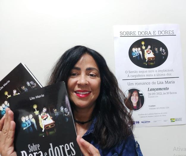 Escritora Lita Maria está com novo livro na praça e lançamento acontece na terça-feira, 28, no IFTO, em Porto Nacional