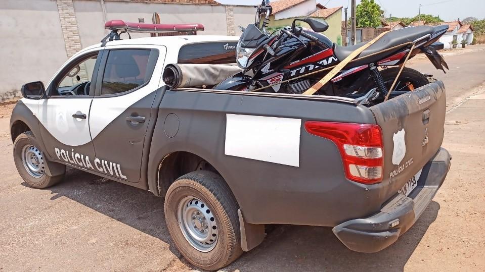63ª Delegacia da Polícia Civil de Paraíso recupera moto roubada