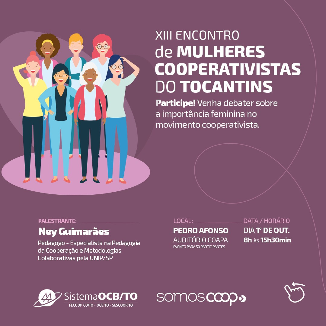 XIII Encontro de Mulheres Cooperativistas do Tocantins será realizado em Pedro Afonso