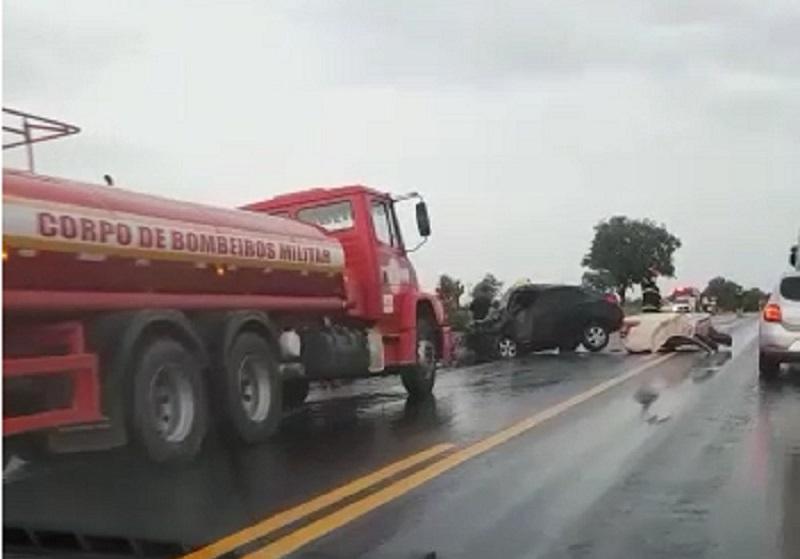 Criança de 9 anos é 3ª vítima fatal em acidente na BR-153 entre Brasilândia e Pres. Kennedy