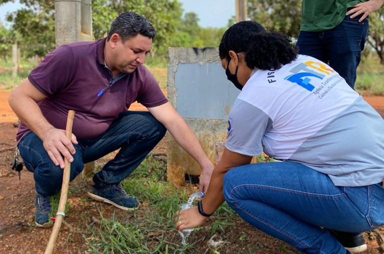 Prefeitura e ATR fiscalizam qualidade da água fornecida aos moradores de Luzimangues