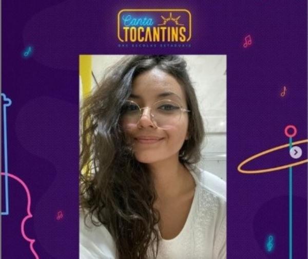 Estudante da Escola Estadual Professora Elizângela Glória Cardoso é a representante da Regional de Palmas no Canta Tocantins