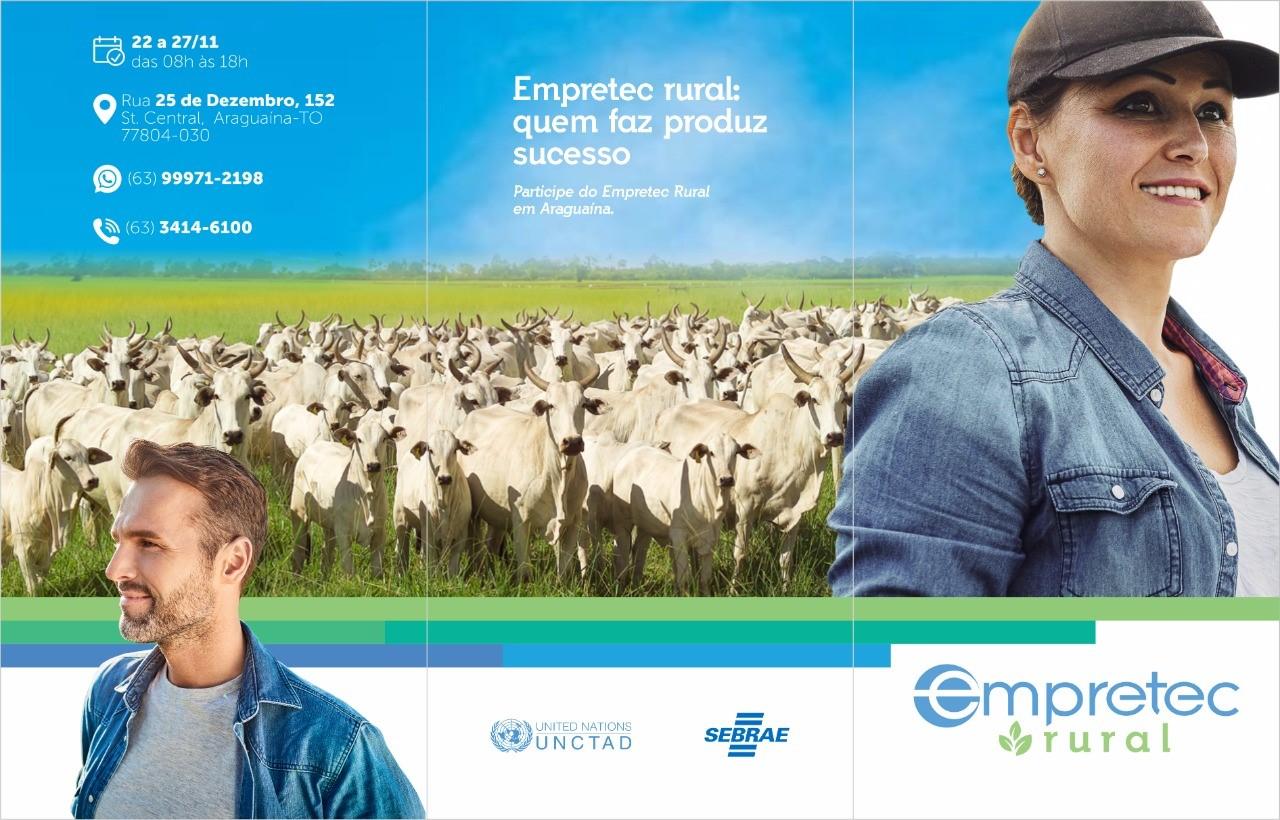 Sebrae realizará Empretec exclusivo para empreendedores do setor rural