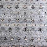 Suri Alpaca Persian Hand-knotted Persian Rug #1617, Lt. Gray