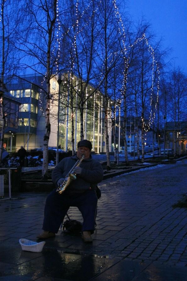 Saxophoniste, Tromsø, décembre 2010