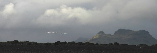 Volcans vers Dyrhólaey, Islande, septembre 2012