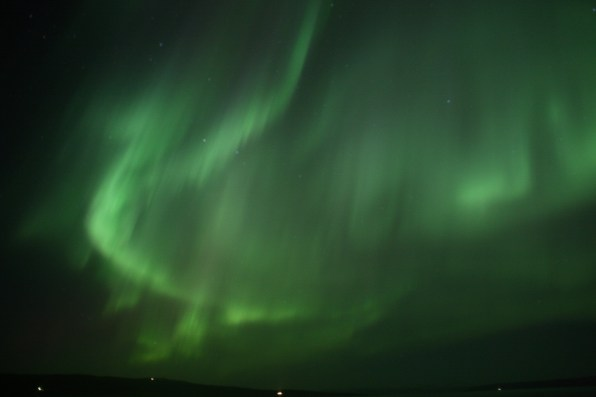 Aurore boréale, Holmavic, Islande, septembre 2012
