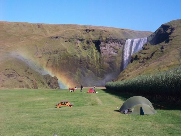 Camping à Skogar, Islande, septembre 2012