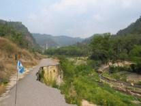 Route défoncée près de Panajachel et très dure, Guatemala