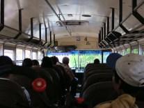 Le bus déglingué montant vers les contreforts du Parc national Imposible, Salvador