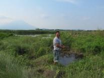 Avec José dans une lagune avec sources chaudes, Salvador