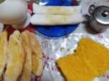 Cafe da manha muito completo! Tapioca, ovos, pan, cafe, bolo...
