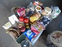 Mis alimentos para la Carretera Austral