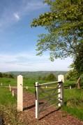 overlooking Bath countriside