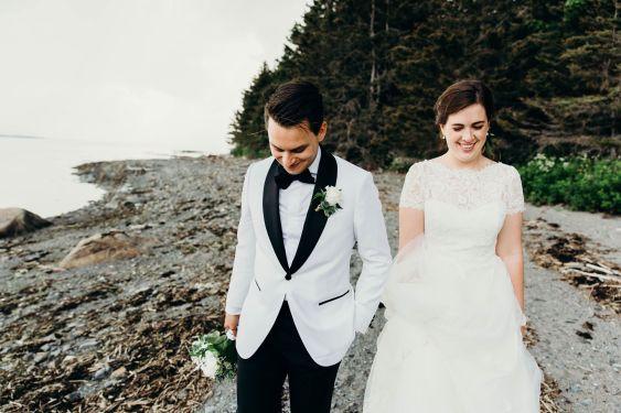 Tuxedo smoking de mariage classique blanc