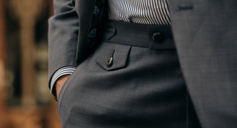 Sophisticated suiting fabrics pocket watch dormeuil