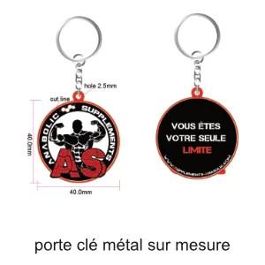 porte clé métal epoxy sur mesure