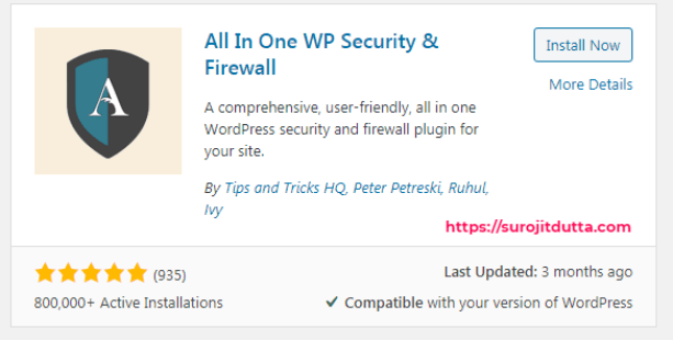 All in One WP Security Plugins For All