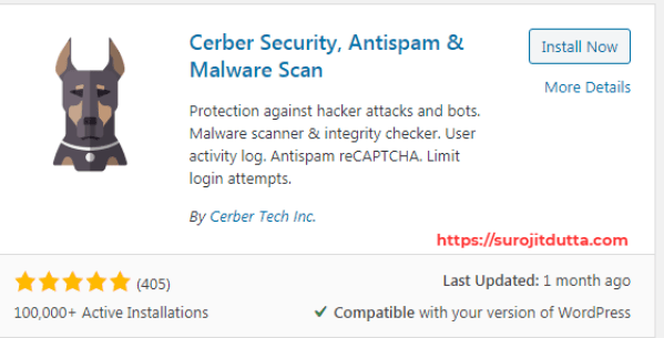 Cerber WordPress Security Plugins