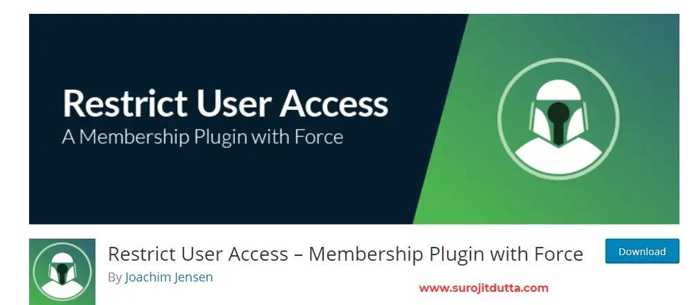 Wordpress Membership Plugins For Restrict User
