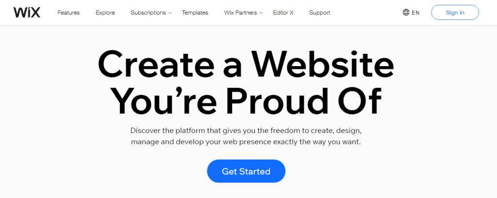 Wix Free Web Hosting Sites