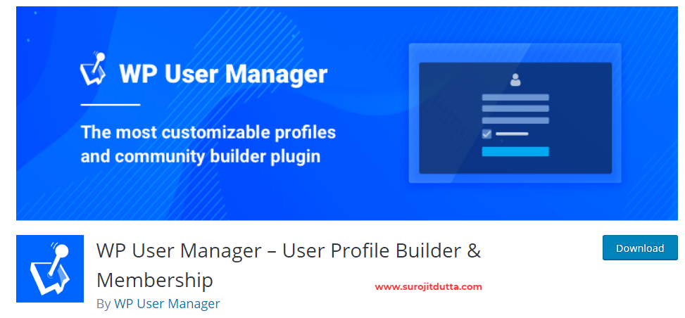 Wp user manager- WordPress Membership Plugins