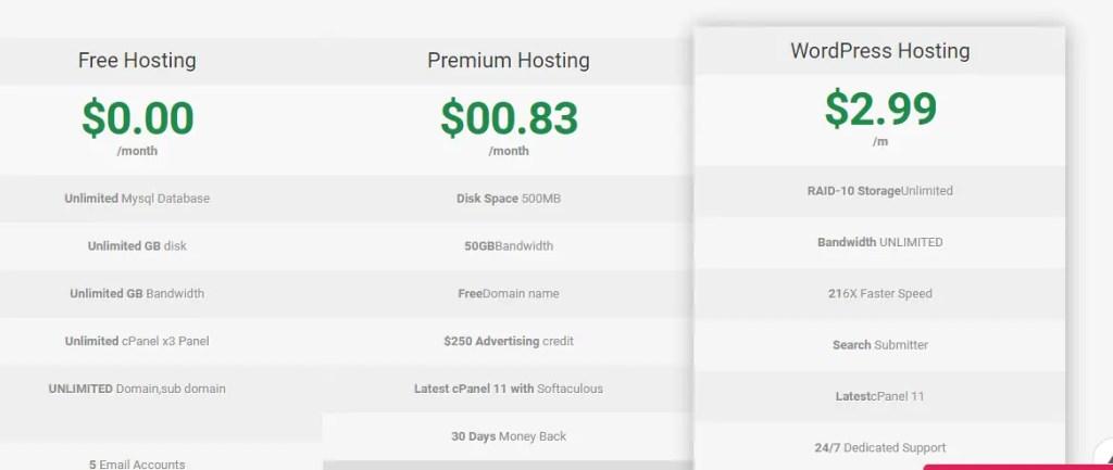 free web hosting sites- ultimate free host