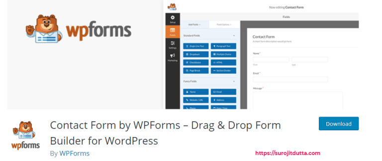 Best Plugin For WordPress To create Contact Form