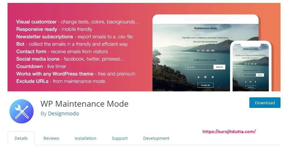 Wp Maintenance Mode Plugin Setup