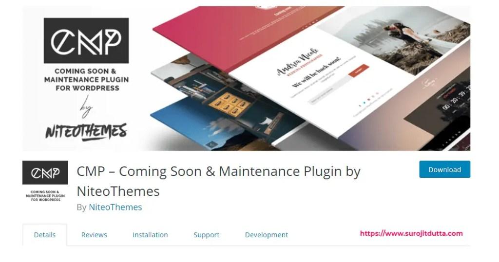 CMP WordPress maintenance Mode Plugins