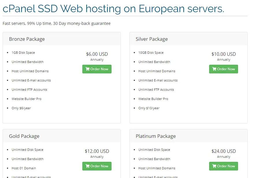 Host blast web hosting