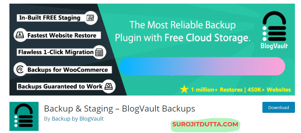 Blogvault Another WP Backup Plugins