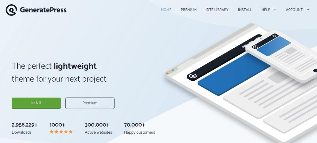 GeneratePress another WordPress Free Temes
