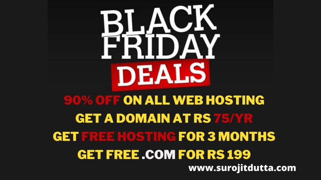 Black Friday Deals 2020- Surojitdutta.com