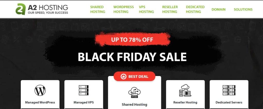A2Hosting Black Friday Deals 2020 and offer