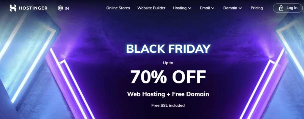 Hostinger- Black Friday Deals 2020 And Offer