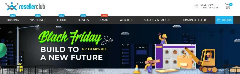 Reseller Club Web Hosting Black Friday Deals 2020