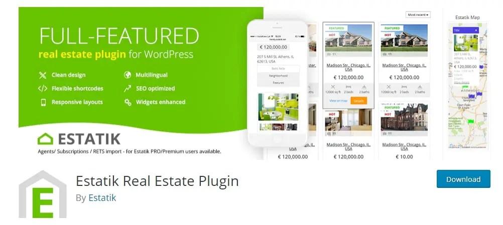 WordPress Real Estate Plugin Estatik