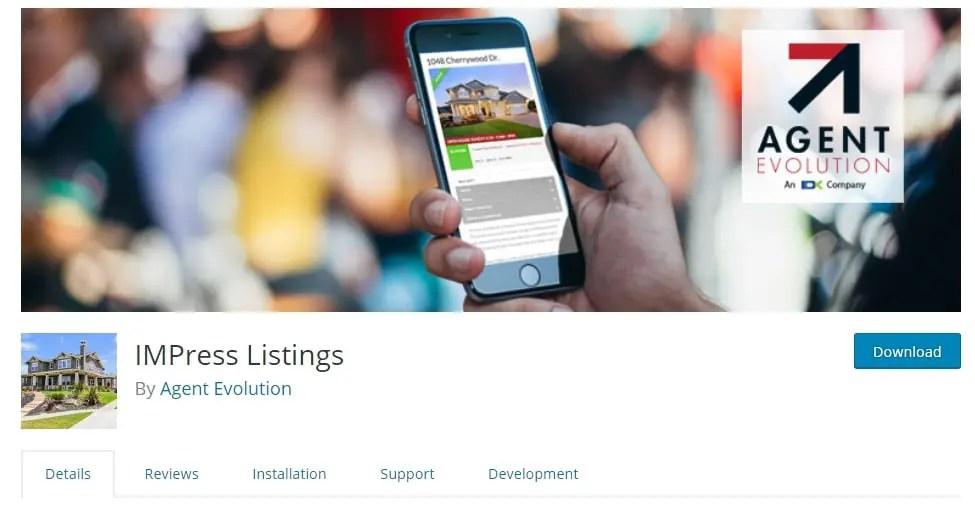 WordPress Real Estate Plugin IMPress