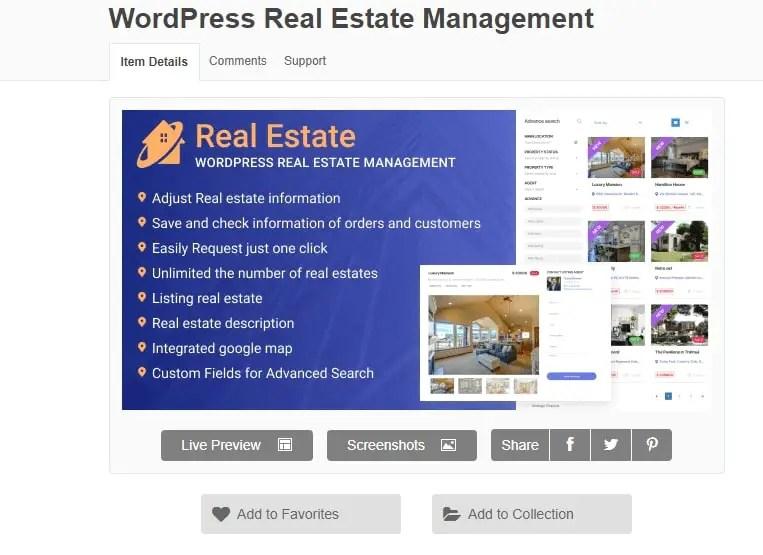 WordPress Real Estate Plugin For Property Management