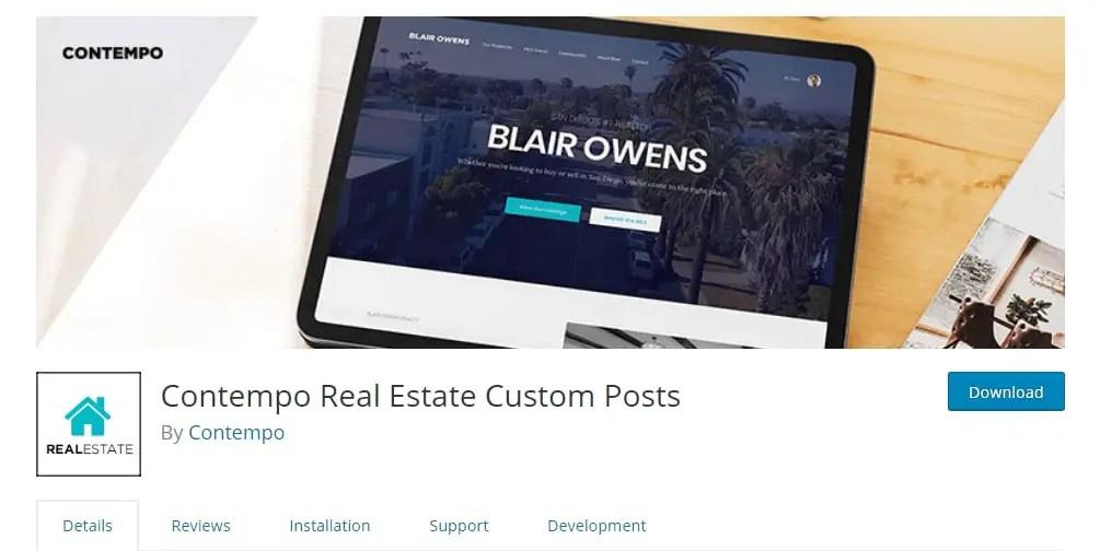 WordPress Real Estate Plugin - Contempo Real Estate Custom Posts