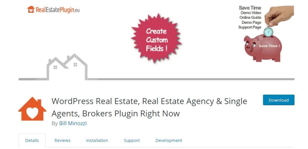 WordPress Real Estate Plugin - WordPress Real Estate, Real Estate Agency & Single Agents, Brokers Plugin Right Now