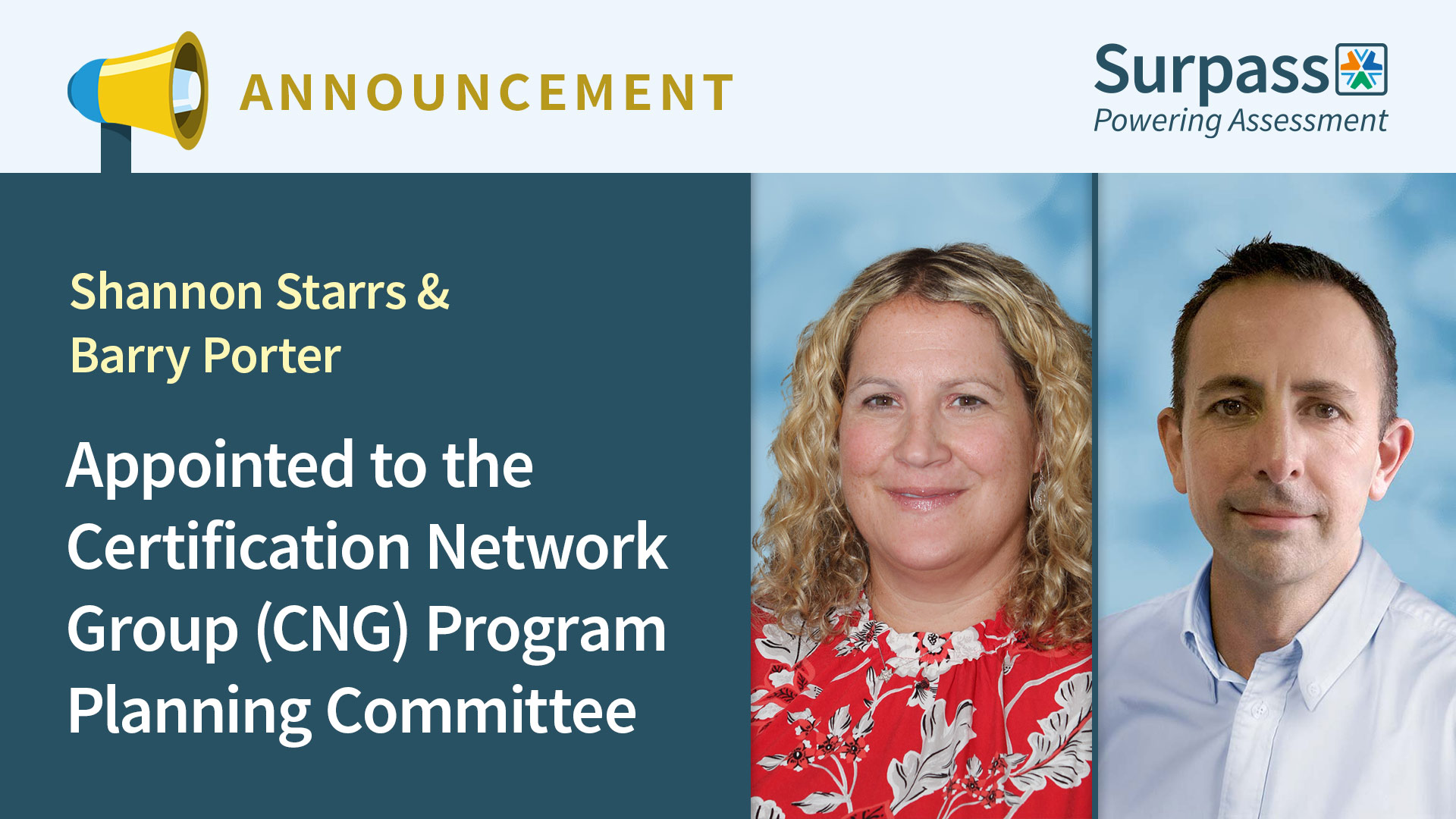 Shannon Starrs and Barry Porter appointed to the CNG Program Planning Committee