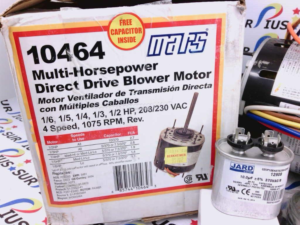 Mars Motor 10464 Wiring Diagram Hvac Detailed Schematics 2 Hp For Blower Heater Start Relay